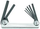 Bondhus Set 7 Hex Metal Handle Fold-up Tools 2-8mm