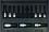 """Bondhus Set 9 ProHold Hex Bits 2"""" (4-17mm) w/Sockets in Molded Black Case"""