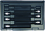 """Bondhus Set 6 ProHold Hex Bits 6"""" (4-10mm) w/Sockets in Molded Black Case"""