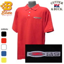 Belite Designs Belite Designs C5 Z06 405 HP Embroidered Men's Cutter & Buck Ace Polo White- Small -BD5ZEP135