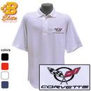 Belite Designs Belite Designs C5 Corvette Embroidered Men's Performance Polo Shirt Classic Red- XXX Large -