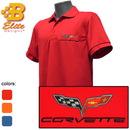 Belite Designs Belite Designs C6 Corvette Embroidered Fairfax Men's Performance Polo Shirt Red- Small -BDC6EP153