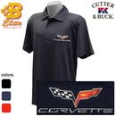 Belite Designs C6 Men's Cutter & Buck Genre Performance Dry Tec Polo Shirt Navy Blue-Small -BDC6EP156