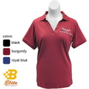 Belite Designs Belite Designs C6 Corvette Anaheim Ladies Embroidered Jersey Polo Shirt Burgundy- XXX Large -BDC6EPL154