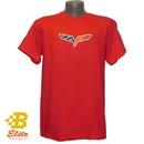 Belite Designs Belite Designs C6 Corvette Emblem Adult Tee Shirt Red- Small -BDC6ST183