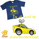 Belite Designs Belite Designs C6 'I'm All Wound Up' Youth Royal Blue Corvette Tee Shirt Royal- Medium (10-12 Youth) -BDC6STY907