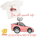 Belite Designs Belite Designs C6 'I'm All Wound Up' Youth White Corvette Tee Shirt Small (6-8 Youth) -BDC6STY908
