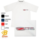 Belite Designs C6 Z06 Corvette Embroidered Men's Performance Polo Shirt White- Small -BDCZEP121