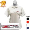 Belite Designs Belite Designs Z06 Corvette Embroidered Ladies Performance Polo Shirt Black- X Large -BDCZEPL122