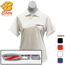 Belite Designs Belite Designs Z06 Corvette Embroidered Ladies Performance Polo Shirt Classic Red- Small -BDCZEPL122