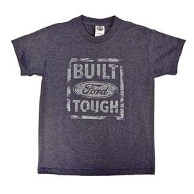 Belite Designs Built Ford Tough Distressed Look Youth Tee DENIM HEATHER- LARGE (14-16) -