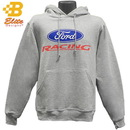 Belite Designs Ford Racing Logo Hooded Sweatshirt GREY- XXX LARGE -BDFMSW153
