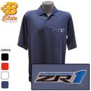 Belite Designs Belite Designs ZR1 Corvette Embroidered Men's Performance Polo Shirt Black- XXX Large -BDZREP119