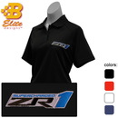 Belite Designs Belite Designs ZR1 Corvette Embroidered Ladies Performance Polo Shirt Black- Small -BDZREPL120