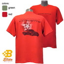 Belite Designs Belite Designs C6 Corvette Happiness w/ Wheel Design Corvette Tee Shirt Red- Small -BEC6ST842