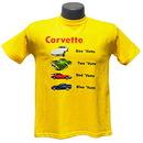Belite Designs Belite Designs Children's 1 'Vette 2 'Vette Yellow Tee Shirt MEDIUM (10-12) -