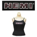 Ladies Hemi Rhinestone Black Strappy Tank Top -M -