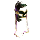 Forum Novelties 56281 Mardi Gras Feather Couples Mask