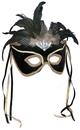 Forum Novelties 113421 Black Feather Couples Mask