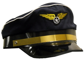 Forum Novelties 57011 Airplane Pilot Adult Hat - Size: One Size - Color: Blue