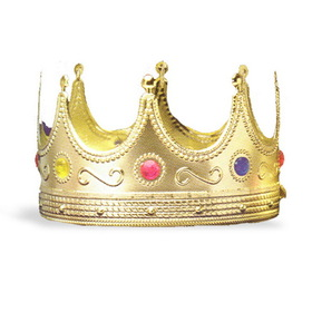 Forum Novelties 25136 Regal King Crown - Size: One Size - Color: Red