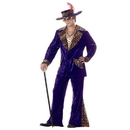 California Costumes 00839PXL Pimp Purple Crushed Velvet Adult Costume