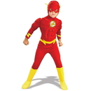 Rubies Costumes 138954 DC Comics The Flash Muscle Chest Deluxe Toddler/Child Costume - Small (4-6)