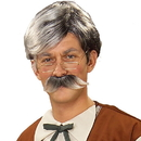 Forum Novelties 140475 Geppetto Wig and Moustache - Grey