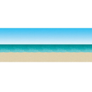 Beistle 52001 30' Blue Sky & Ocean Beach Backdrop