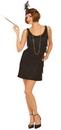 Forum Novelties 60869 Black Flapper Adult Plus Costume
