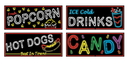 Beistle 57505 Neon Food Sign Cutouts