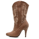 Ellie Shoes 418CowgirlBRWN7 Cowgirl (Brown) Adult Boots