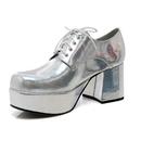 Ellie Shoes 312PimpSLVH89 Silver Pimp Adult Shoes