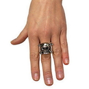 Rubies Costumes 6388 Adjustable Skull Ring with Pewter Finish