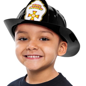 Aeromax FF-Helmet Children's Firefighter Helmet - Size: One Size - Color: Black