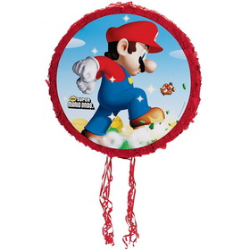 "Party Destination PS798-BEX Super Mario Bros. 18"" Pull-String Pinata"