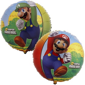 Party Destination 116406HV Super Mario Bros. Foil Balloon, Price/each