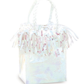4985 Mini Gift Bag Balloon Weight - Color: Silver