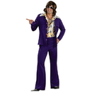 Rubies Costumes 889179 Leisure Suit Deluxe (Purple) Adult Costume