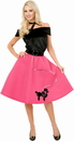 Charades Costumes 180510 Poodle Skirt, Top & Scarf Adult Costume - X-Large