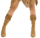 Charades Costumes 60215M/L Indian Maiden Suede Adult Boot Covers