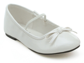 182046 Ellie Shoes 013-Ballet Ballet (White) Child Shoes - Size: Small (11/12) - Color: White