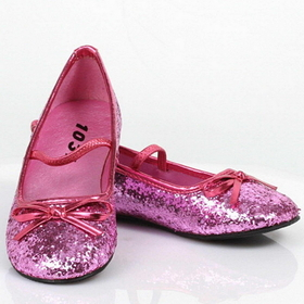 Pleaser Shoes STAR-16GC-Pink-11/12 Sparkle Ballerina (Pink) Child Shoes - Size: Small (11/12) - Color: Gold