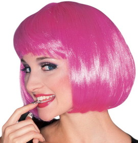 Rubies Costumes 50496 Hot Pink Super Model Wig - Size: One Size - Color: Pink