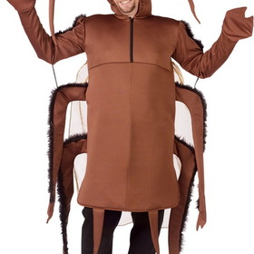 FunWorld 5497 Giant Cockroach Adult Costume - Size: One Size Fits Most Adults - Color: Brown