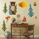 Party Destination Let's Go Camping Giant Wall Decals