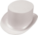 Forum Novelties 63834 Satin (White) Adult Top Hat, Display Size: One Size Fits Most Adults