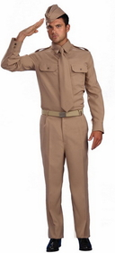 Forum Novelties 64075 World War II Private Adult Costume - Size: One Size Fits Most Adults - Color: Tan