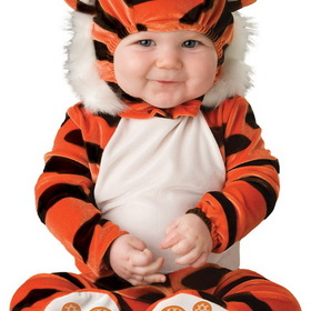 In Character Costumes 16004S Tiger Tot Infant / Toddler Costume - Size: 6/12 Months - Color: Black/Orange