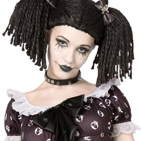 BuySeasons 8071 Gothic Rag Doll Wig - Size: One Size - Color: Black